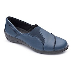 Padders - Navy 'Ruth' leather shoe