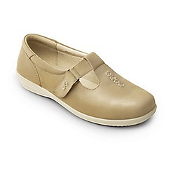 Padders - Beige 'solo' wide fit shoes