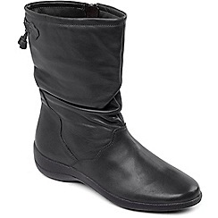 Padders - Black 'Regan' calf boots
