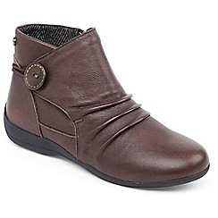 Padders - Brown 'Carnaby' Womens Leather Ankle Bootss