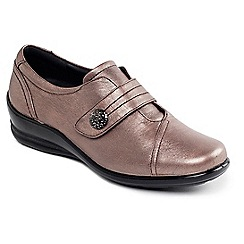 Padders - Leather 'simone' mid heel wide fit shoes