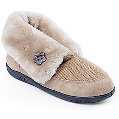Padders - Camel 'Eden' womens memory foam slippers