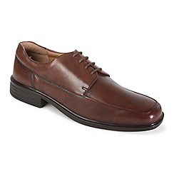 Padders - Brown leather 'ryan' wide fit lace up shoes
