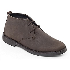 Padders - Brown 'joe' wide fit boots