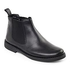 Padders - Black leather 'Jerry' wide fit boots