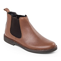 Padders - Tan leather 'Jerry' wide fit boots