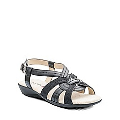 Padders - Black 'Pandora' womens leather sandals