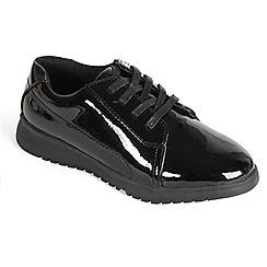 Padders - Black Patent 'Re-Run' lace shoe