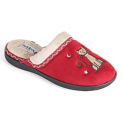 Padders - Red 'Tabby' mule slipper