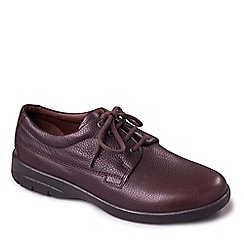 Padders - Dark brown leather 'Lunar' wide fit shoes