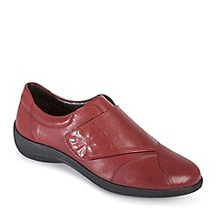 Padders - Wine 'rose' leather shoe