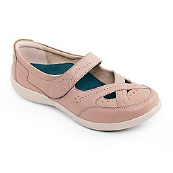 Padders - Camel leather 'cello' wide fit shoes