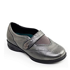 Padders - Metallic leather 'Kirsten 2' wide fit shoes