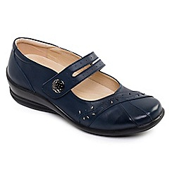 Padders - Leather 'Sunshine' Wide Fit Shoes