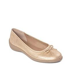 Padders - Metallic leather 'Roxy' mid heel wide fit pumps