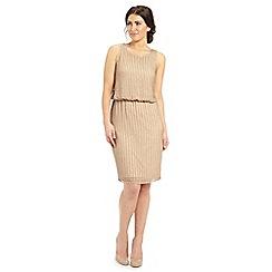 Ariella London - Light gold sequined 'Rebecca' evening dress
