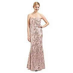Ariella London - Rose sequined lace 'Amara' evening dress
