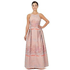 Ariella London - Pale pink jacquard 'Bevan' evening dress