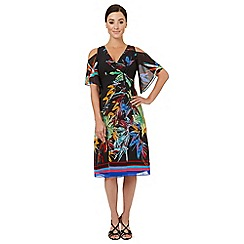 Ariella London - Multicoloured print 'Breeze' cold shoulder dress