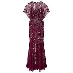Ariella London - Berry 'Steffy' maxi embellished dress