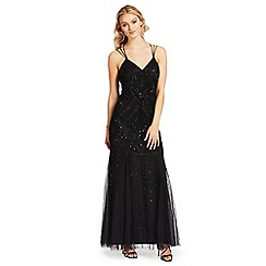 Ariella London - Black embellished 'Perla' evening dress