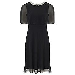 Ariella London - Black 'Harmony' chiffon fit and flare dress