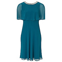 Ariella London - Teal 'Harmony' chiffon fit and flare dress