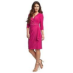 Ariella London - pink 'Aniya' jersey faux wrap dress
