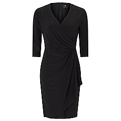 Ariella London - Black 'Aniya' jersey faux wrap dress