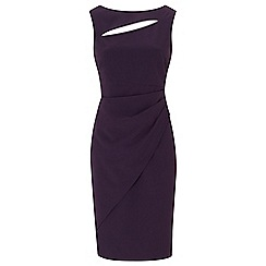 Ariella London - Purple 'Pia' rose gold zip shift dress