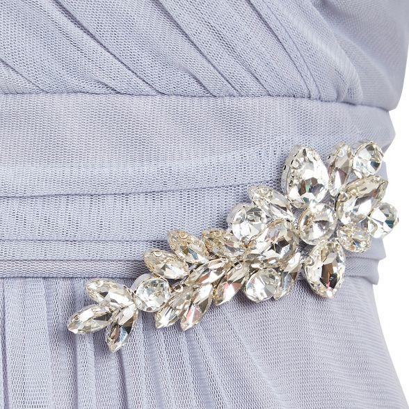 Ariella with Lilac diamante maxi mesh 'Tonia' London dress brooch wSwA4