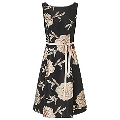 Ariella London - Black 'Maya' floral jacquard prom dress