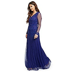 Ariella London - Blue 'Petal' embellished maxi dress