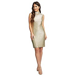 Ariella London - Gold 'Michaela' foil jersey bodycon dress