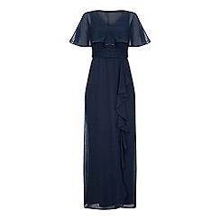 5846a2b2f Ariella London - Navy 'Amaris' chiffon cape maxi dress