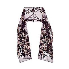 Ariella London - Purple 'Kayla' embroided stole