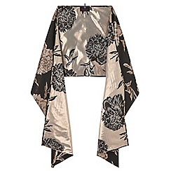 Ariella London - Black 'Ele' rose jacquard stole