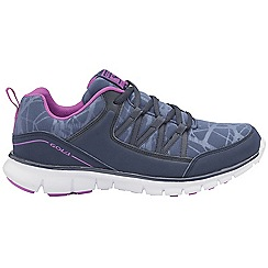 Gola - Navy & purple 'Luna' ladies lace up sports trainers
