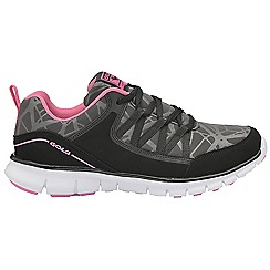 Gola - Black/pink 'Luna' ladies lace up sports trainers