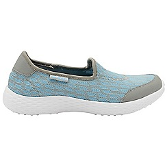 Gola - Grey and light blue 'San Luis' ladies slip on trainers