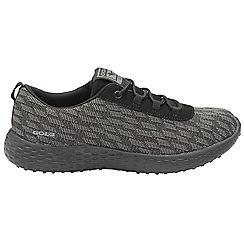 Gola - Black/grey 'Izzu' ladies lace up sports trainers