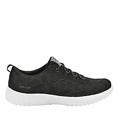 Gola - Black/white 'Izzu' ladies lace up trainers
