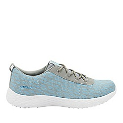Gola - Grey/light blue 'Izzu' ladies lace up trainers