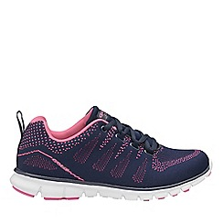 Gola Sport - Navy and pink 'Tempe' ladies lace up trainers