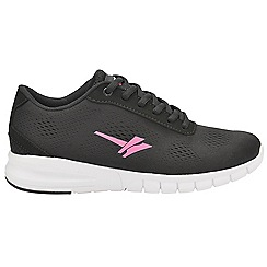 Gola Sport - Black and pink 'Beta' ladies lace up sports trainers