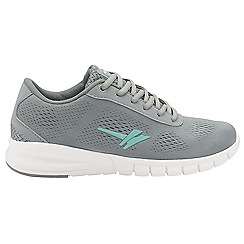 Gola - Grey/mint 'Beta' ladies lace up sports trainers