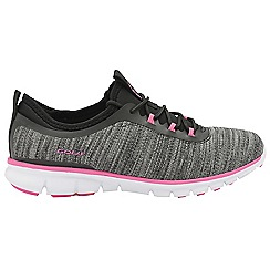 Gola - Black and pink 'Lovana' ladies lace up sports trainers