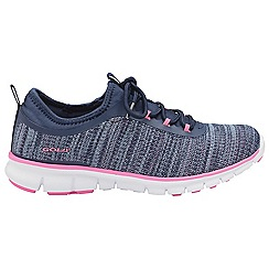 Gola Sport - Navy and pink 'Lovana' ladies lace up sports trainers