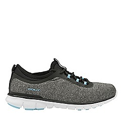 Gola Sport - Charcoal and blue 'Lovana' ladies lace up trainers