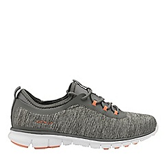 Gola Sport - Grey and coral 'Lovana' ladies lace up trainers